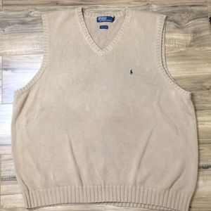 Vintage Polo Ralph Lauren Knit Sweater Vest Sz 3XL